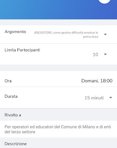 ItaliaTiAscolto app bicocca psicologia